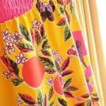 Summer Top Orange Fruity Floral But..